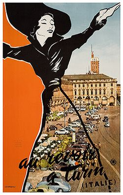 We've been looking at a lot of 50's graphic design recently for a brief. Love this poster by Travel Italia from 1950.
