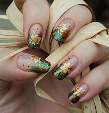 I don't like the length of these nails but I LOVE the design.