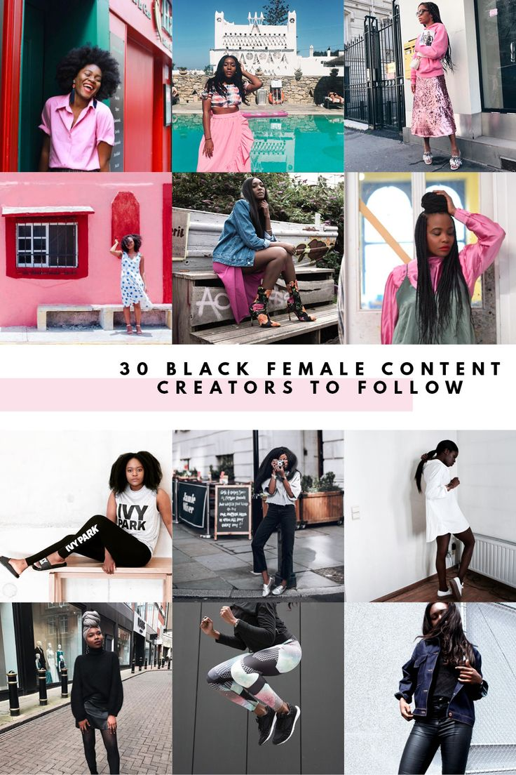 In honour of Black History Month in the UK, here's 30 black fashion, travel & lifestyle bloggers to follow over on Instagram.