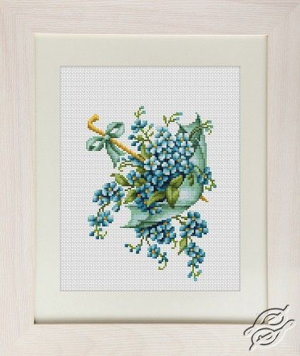 Blue Umbrella - Cross Stitch Kits by Luca-S - B112