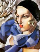The Blue Scarf, 1930  by Tamara de Lempicka (inspired by)