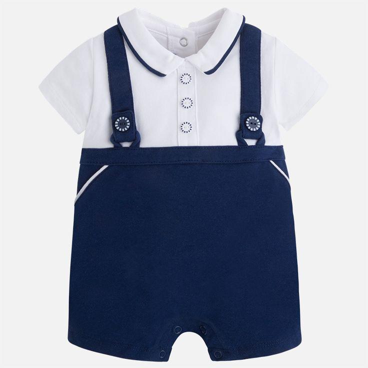 Mayoral Erkek Bebek Yazlık Kısa Tulum Koyu Mavi - Bebek House