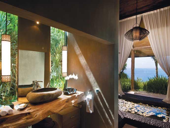 Bali Villa Khayangan Estate: Beyond Luxury, this private clifftop estate next to Bvlgari Resort has a 180° ocean view, private white sand beach below, 6 grand suite villas, ultra lavish bathrooms, 5 stars chef, 6 pools, tennis, full spa, gym, and wifi.