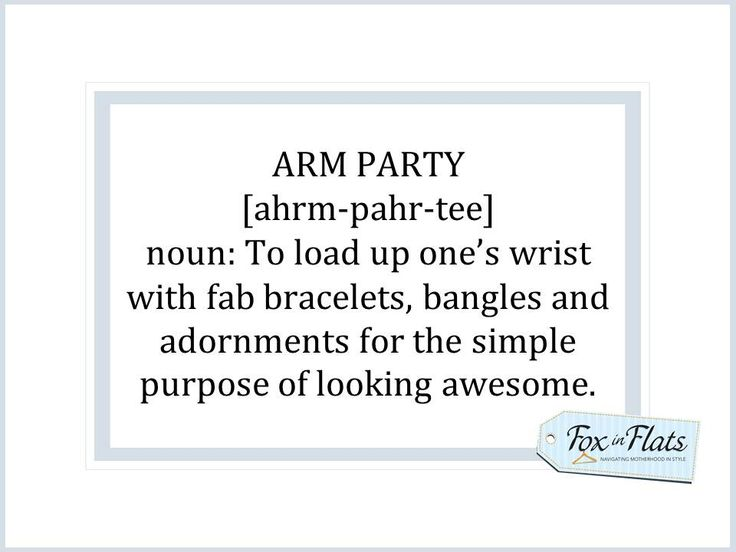 arm party - fun idea to do with a group of friends