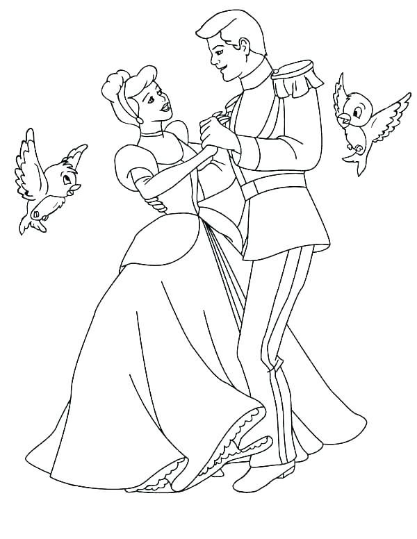 Cinderella coloring pages - Highlights Along the Way | 776x600