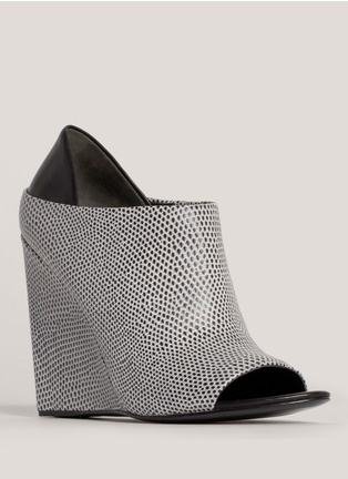 Alexander Wang - Alla textured-leather wedge pumps | Multi-colour Ankle Boots | Womenswear | Lane Crawford - Shop Designer Brands Online