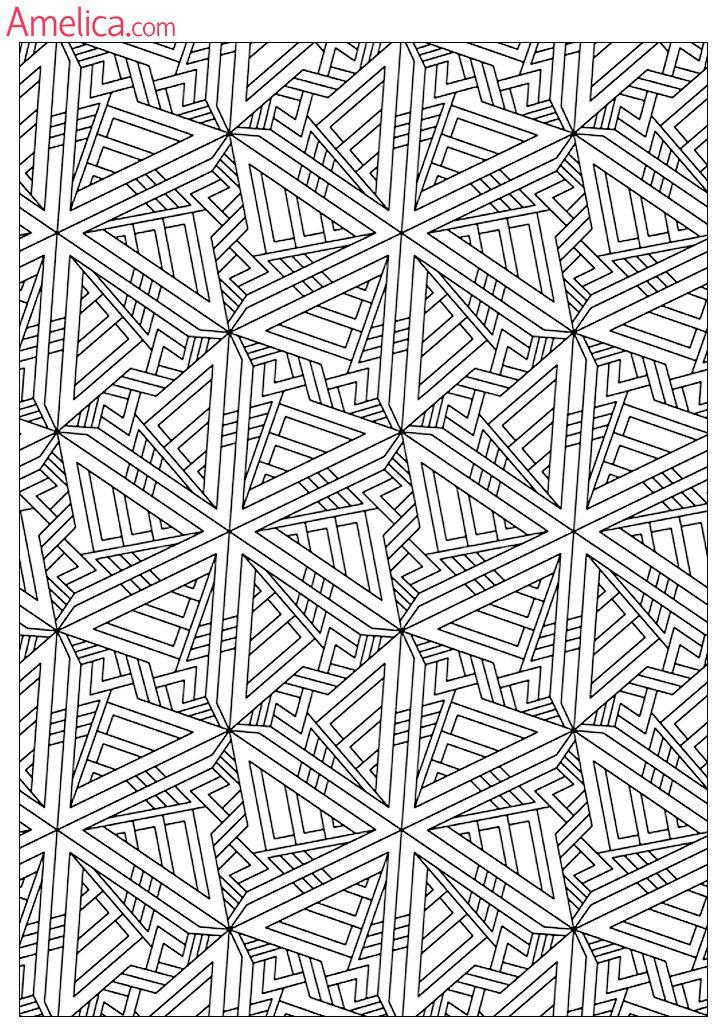 Антистрессовые раскраски распечатать для взрослых: орнамент, абстракция, графические узоры