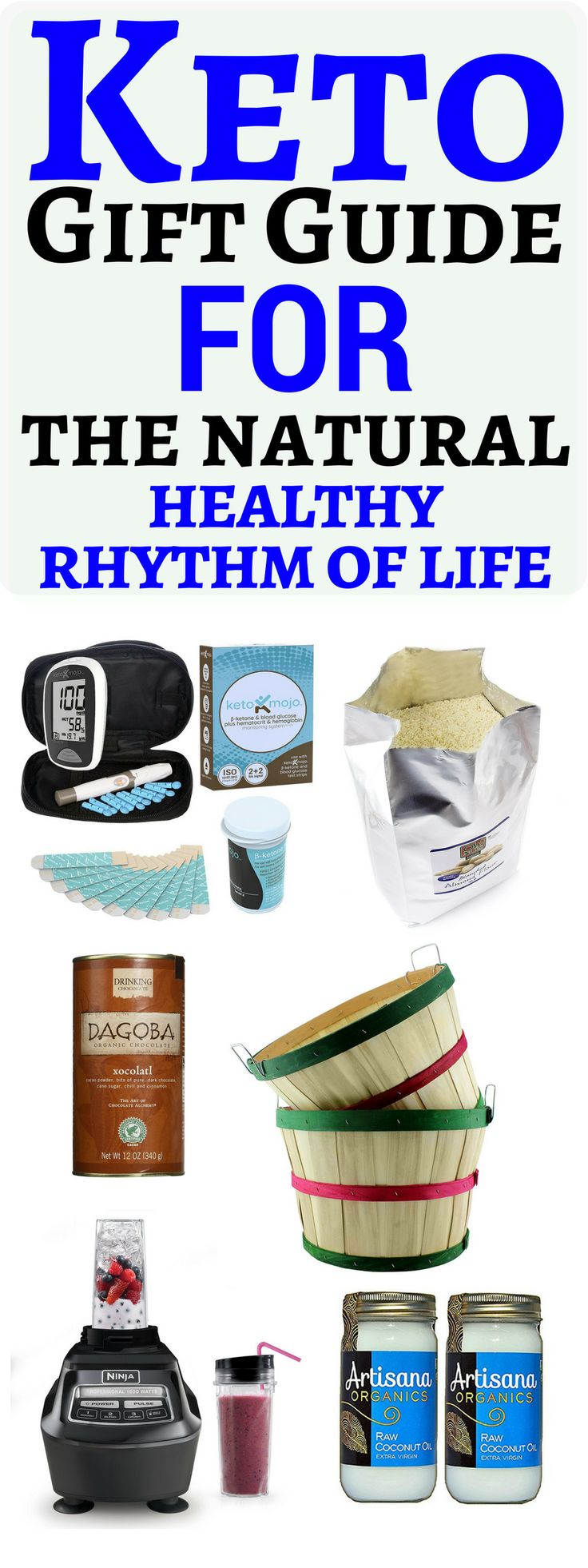 A  Keto Gift Guide for you or your friend, for  starting the ketogenic diet journey In this post you will fine the best keto gift guide with the best keto gift ideas and ketogenic gift basket ideas, for the low carb keto diet journey. This is a perfect and best keto gift guide with the best keto gift ideas for everyone. keto Gift Guide for the natural, healthy rhythm of life #keto #giftguide #ketogenicdiet #giftbasket #ketogiftideas