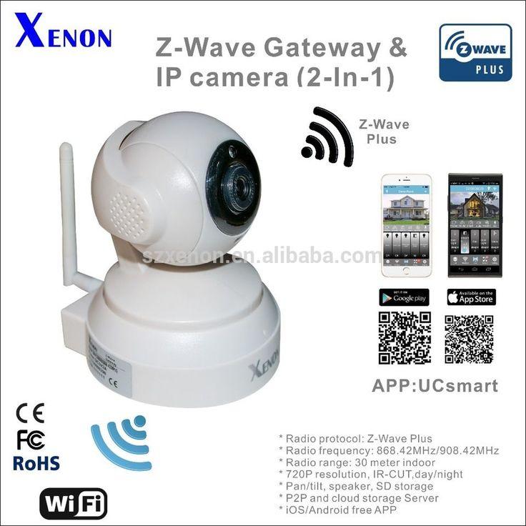 Xenon Z-Wave smart home system gateway z-wave remote wireless smart home automation system gateway HD PTZ 720P IP camera zwave