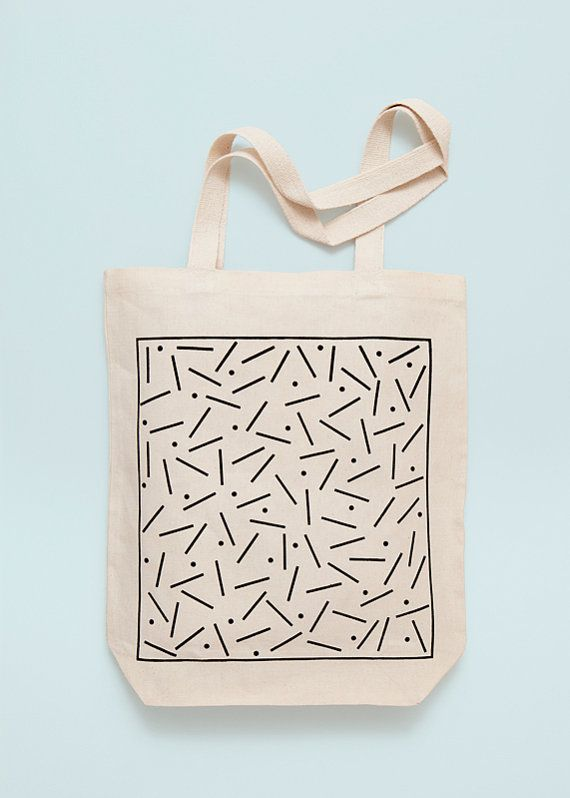 SHAPIRO Screen printed canvas fair trade eco tote bag by Depeapa.