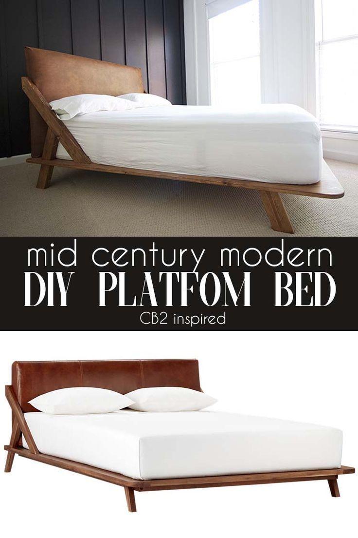 Mid Century Modern Diy Platform Bed Bed Century Diy Mid