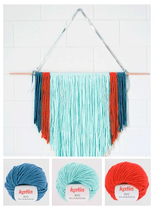 Craft Lovers ♥ DIY Wall Hanging without a loom by Minireyve