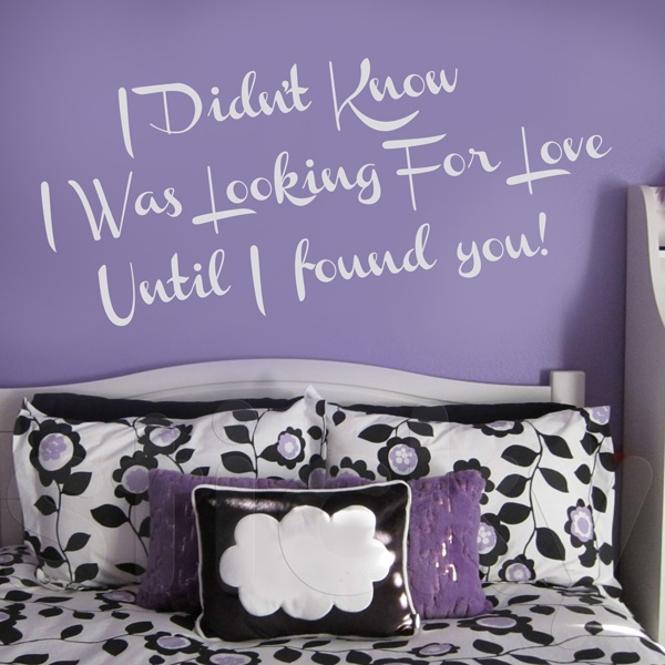 Wall Sticker LOOKING FOR LOVE by Sticky!!!