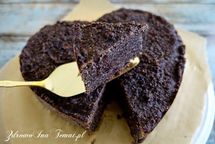 Zdrowo i na temat...: Makowiec bezglutenowy z marcepanem, żurawiną i czekoladą. Szybki. Bez ciasta. Najlepszy.