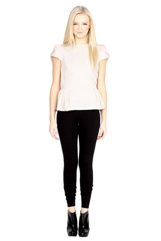 Women's Top Skin Tone Beige White Megan Casual Slim Fit $26.99 CAD