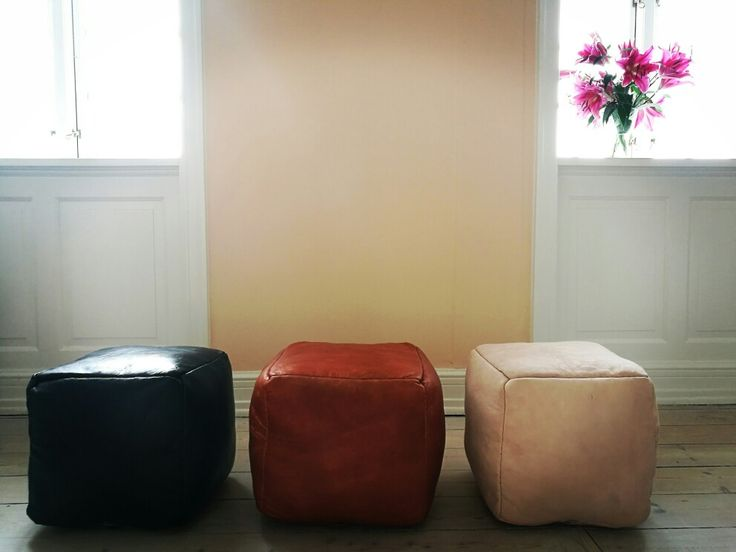 Which color is your favorite? Black, brown or nude? We love our handmade leather poufs from Fez!