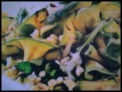Cena Vegetariana: Grano con zucchine e pistacchi