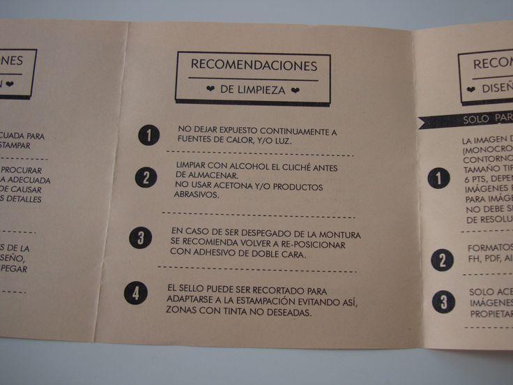 recomiendaciones de limpieza de sellos
