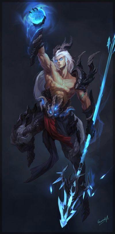 Shengyuan Lee grandialee ilustrações fantasia anime Homem dragão