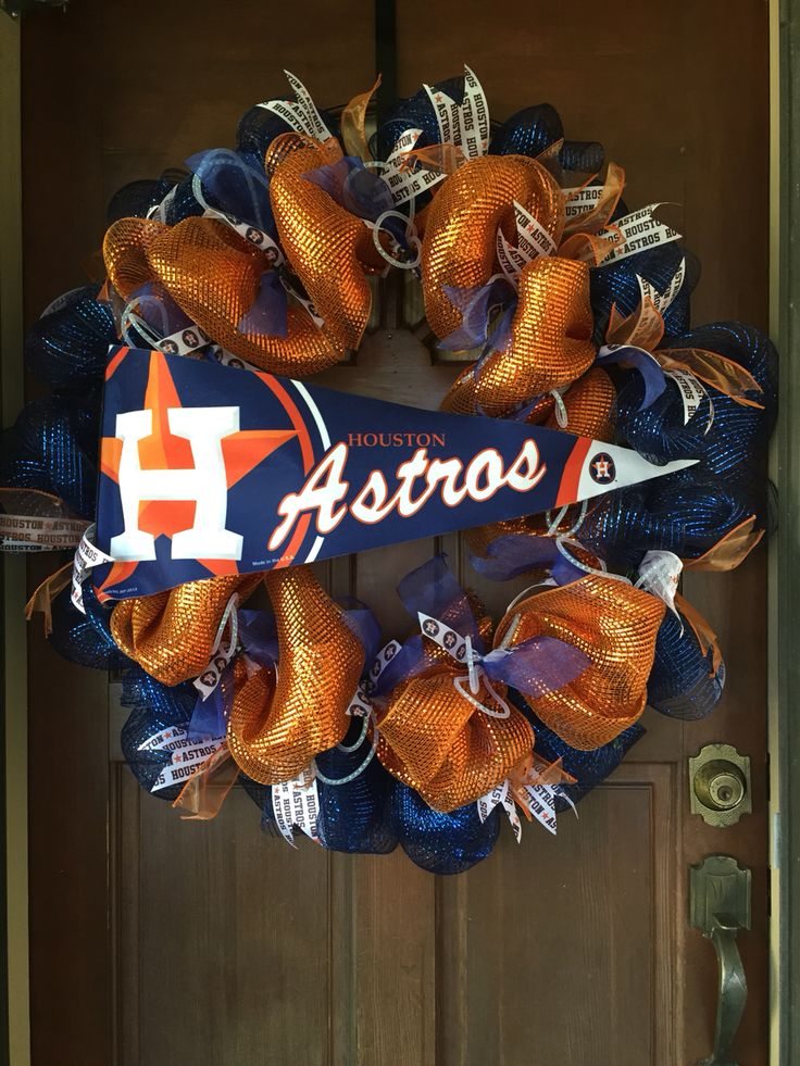 Houston Astros Pennant Wreath