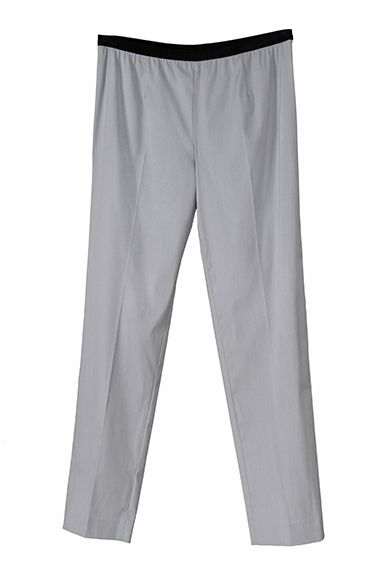 PARIS narrow leg pant in stretch popeline with elastic band (not for nerd)