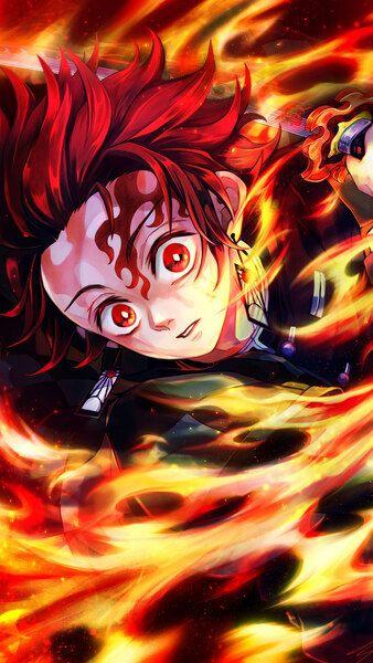 Tanjiro Flame Kimetsu No Yaiba 4k Hd Mobile Smartphone And Pc Desktop Laptop Wallpaper 3840x2160 1920x1080 Anime Art Beautiful Anime Demon Anime Wallpaper