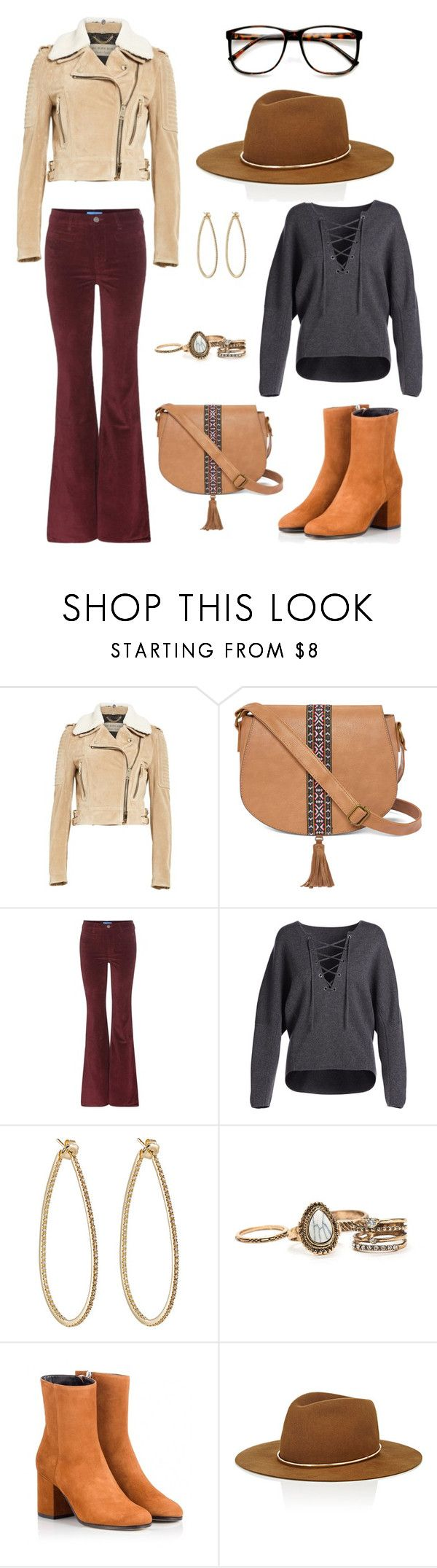 """""""College style # 10"""" by thatnerdgirlruns4themadmaninabox ❤ liked on Polyvore featuring Burberry, T-shirt & Jeans, M.i.h Jeans, Vince, Sidney Garber, Fratelli Karida, Janessa Leone and ZeroUV"""
