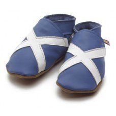 Scotland Blue Soft Leather Baby Shoes Made and supplied by Star Child Shoes in #Leicestershire - £18.00