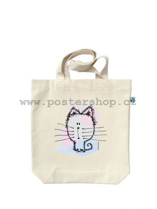 Plátěná taška - Pastelové kotě | Postershop.cz