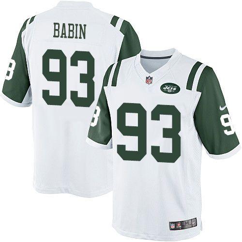 NFL New York Jets Jason Babin Youth Limited White #93 Jerseys