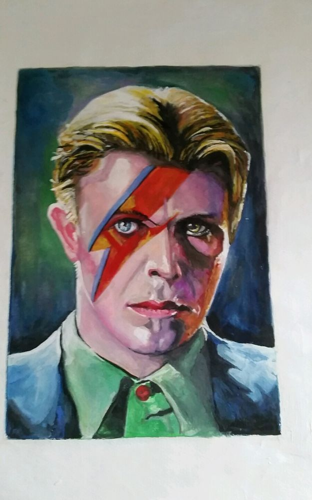 The Unknown Artist DAVID BOWIE  ONE OF A KIND Hand painted ORIGINAL PAINTING