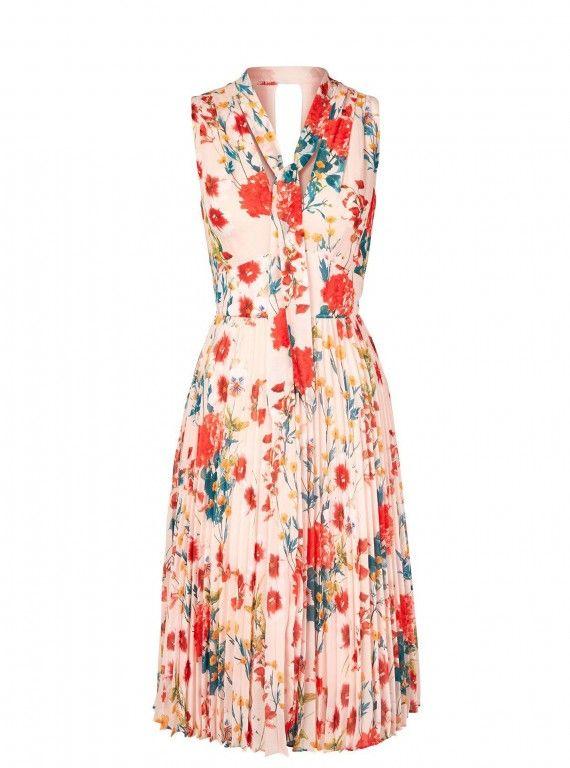 Karen Millen at Very Exclusive Floral Pleated Dress, £200
