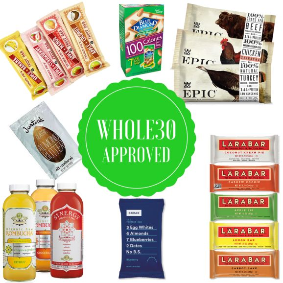 The best Whole30 approved packaged foods for sticking to the Whole30 while traveling!