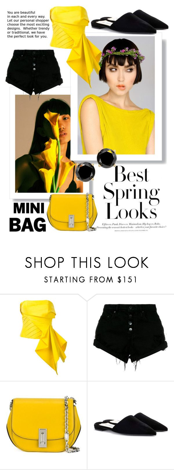 """Yellow spring looks"" by unicorn1109 ❤ liked on Polyvore featuring H&M, Rubin Singer, Nobody Denim, Marc Jacobs and Prada"
