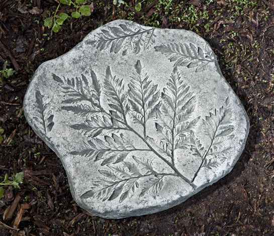 Garden Stepping Stones Ideas checkerboard herb garden heres a bunch of creative ideas for designing garden paths and walkways Fossil Fern Stepper Cast Stone Stepping Stone Made By Campania International