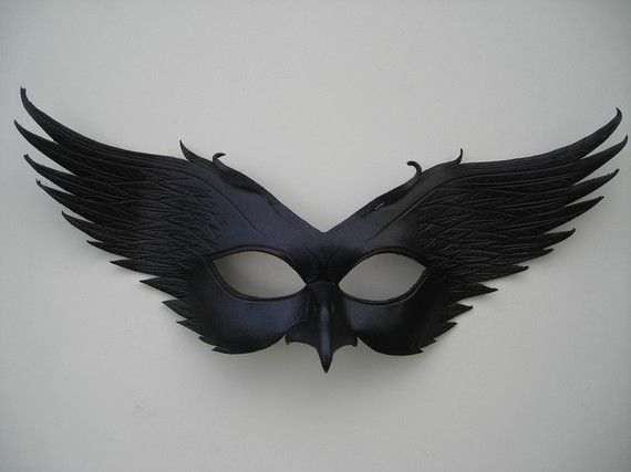 Leather Raven Masquerade Mask