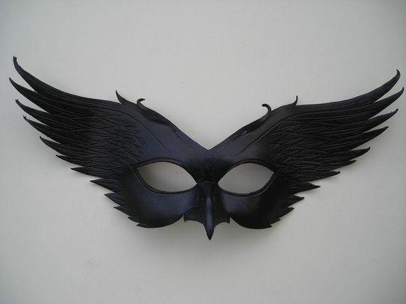Leather Raven Masquerade Mask