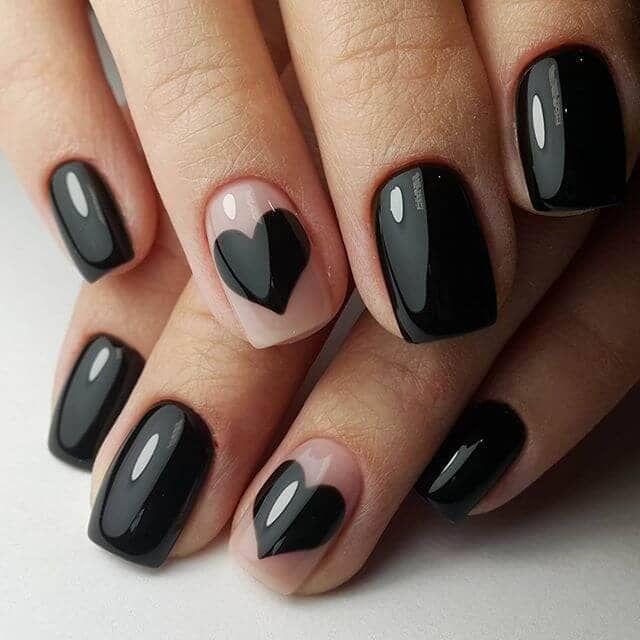 50 dramatische schwarze Acrylnagel-Designs, um Ihren Stil auf Punkt zu halten