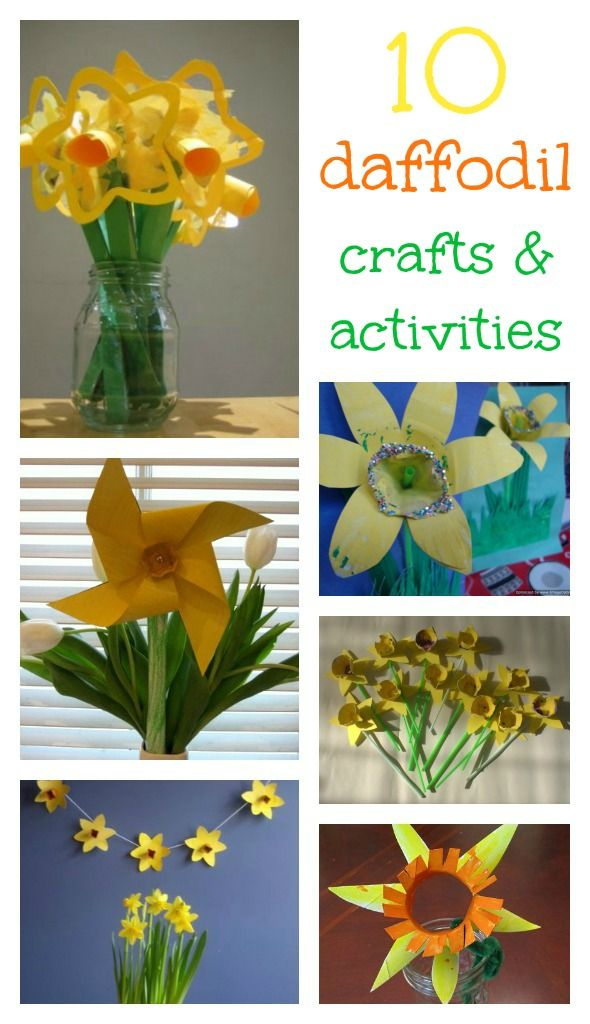 Gorgeous daffodil crafts and activities for kids ***