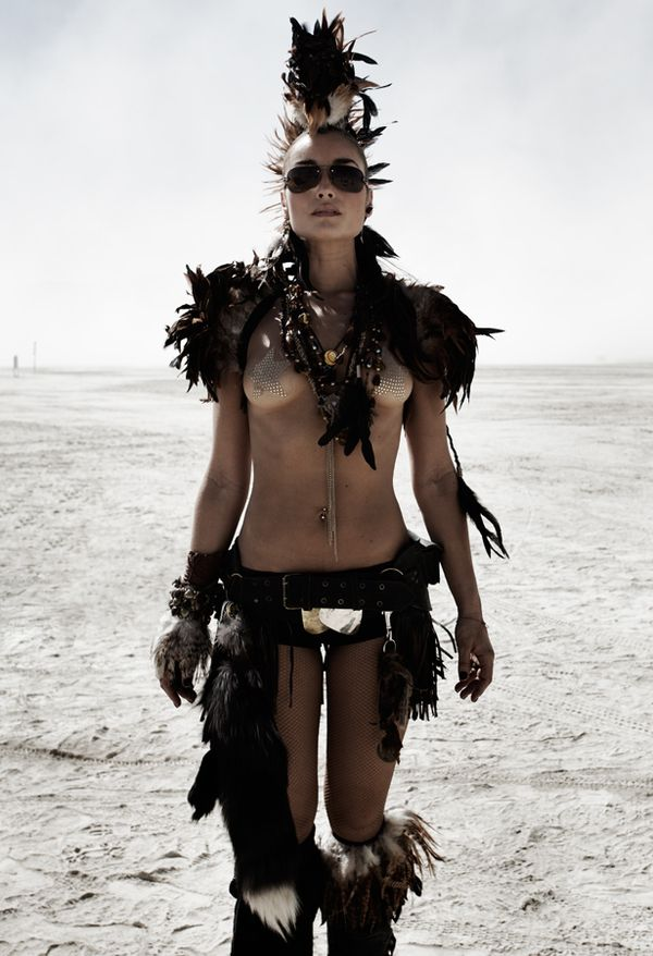 Feathers look great as a mohawk or shoulder pads.