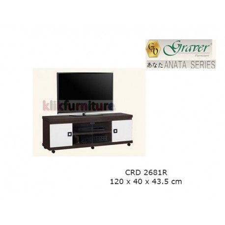 Harga CRD 2681R Graver Anata Condition:  New product  Meja Tv / Bufet Pendek ANATA Series Graver  bahan particle board ukuran 1200 x 400 x 435 mm