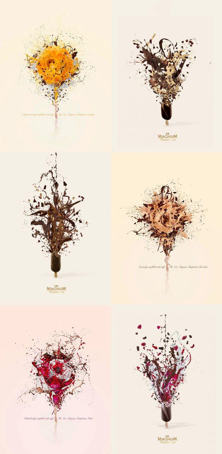 Design poster ice cream -  Magnum Art Ad Campaign Magnum Ice Creamfood
