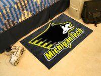 Michigan Technological University Starter Nylon NCAA Doormat