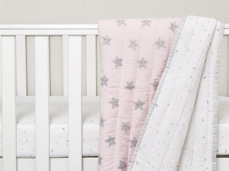 Sleepy Star Organic Cotton Baby Blanket, Baby Blanket, Organic Baby Blanket, Baby Shower Gift, Baby Girl Gift