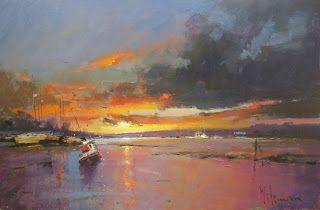 Peter Wileman Sunset Over the Estuary