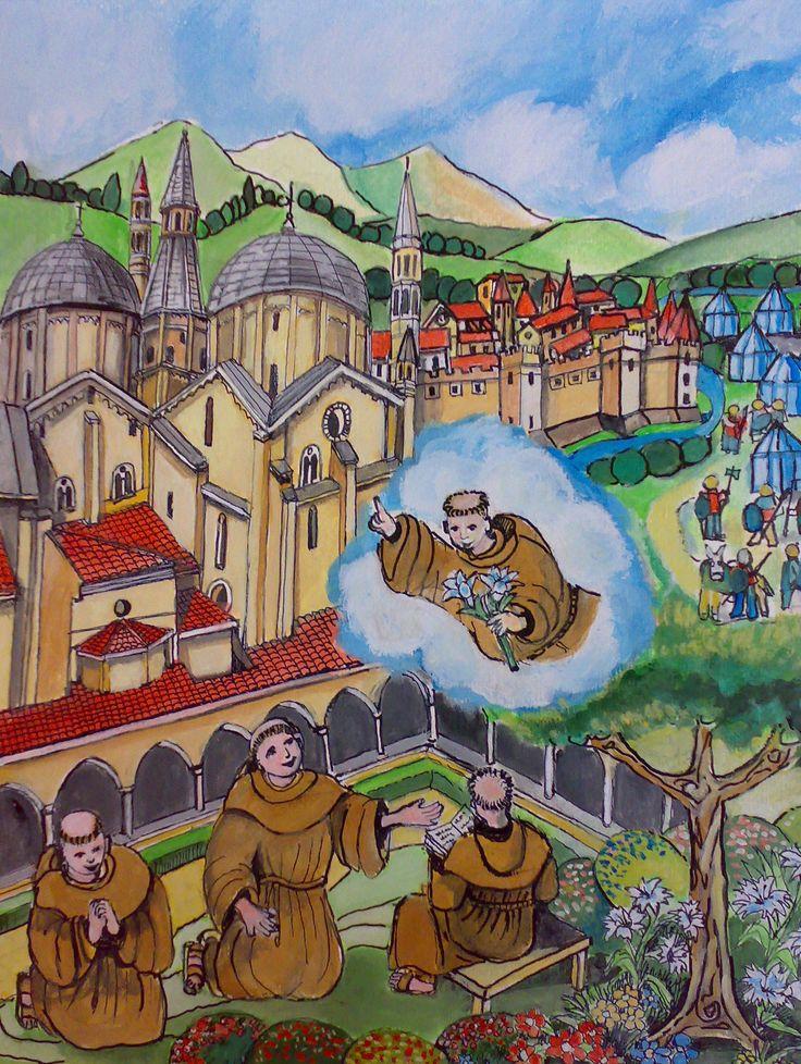 Nella notte del 13 giugno Antonio appare in sogno ad alcuni frati e predice la liberazione di Padova dal tiranno Ezzelino