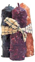Candles - Appleseed Primitives-Primitive and Rustic Country Home Decor. Victorian Heart Quilts, Handbags, and Gifts.