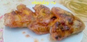 Куриные крылья в розовом маринаде