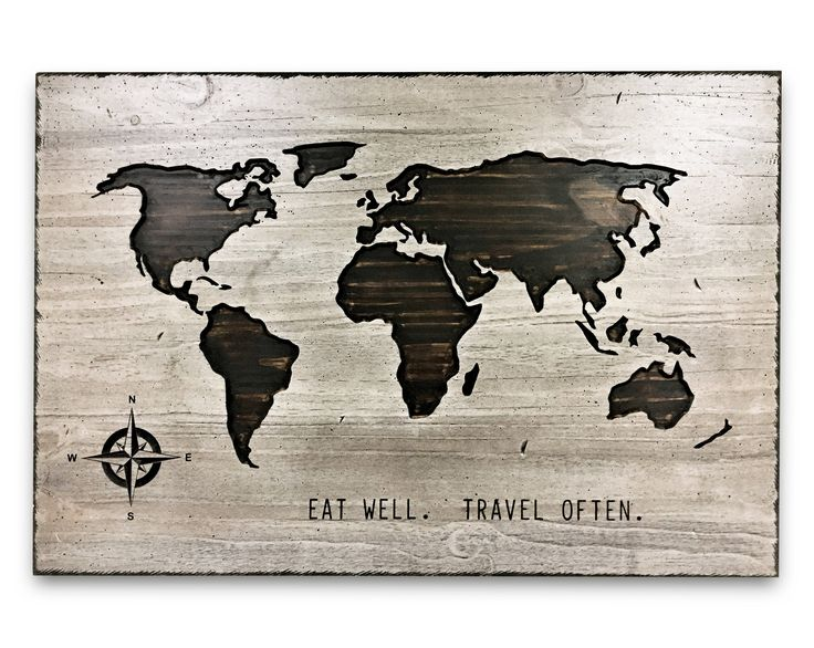 207 best wooden world maps images on pinterest eat well travel often world map art wooden world map wood wall gumiabroncs Images