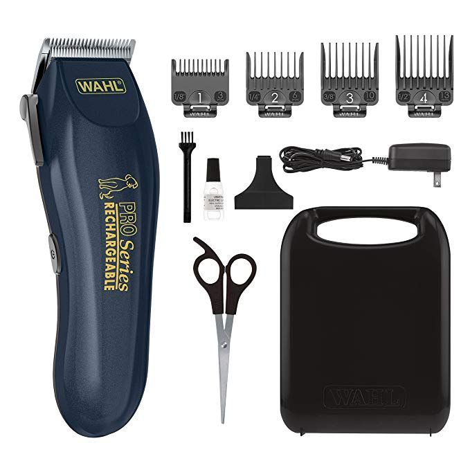 Wahl Lithium Ion Rechargeable Deluxe Pro Series Pet Clipper Kit Cordless Rechargeable Clippers Pet Grooming Kit Model 95 Pet Grooming Grooming Grooming Kit